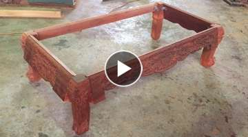 Amazing Woodworking Projects Of The Carpenter | How To Build A Frame Table Asian Style