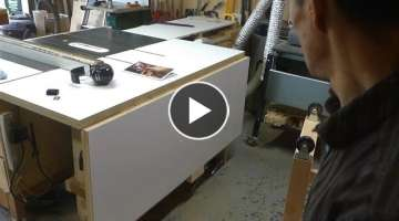 Make a folding outfeed table