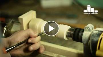 How to convert a drill press stand into a homemade lathe