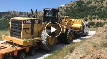 Transporting The Cat 992G, Liebherr 976, And Terex RH 30 - Fasoulas Heavy Transports