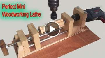 Amazing Perfect Mini Woodworking Lathe Machine DIY - How To Made Wooden Balls