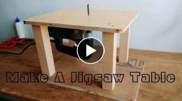 Homemade Jigsaw Table Machine || DIY Jigsaw Table