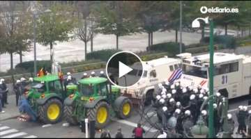 Clashes in Brussels between police and ranchers