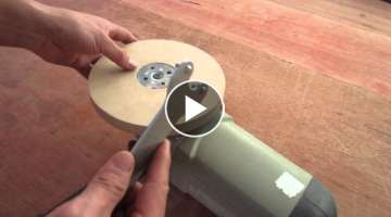 Convert grinder sander Polishing Wood