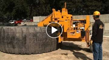 The biggest tire in the world. Amazing recycling machines.