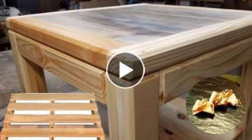 Fabrication table basse bois de palette
