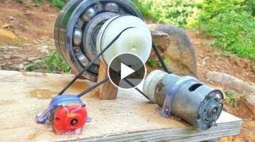 How to make 100% free energy generator without battery with the help of bearings | home invention...