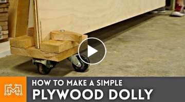 How to Make Simple Plywood Dolly