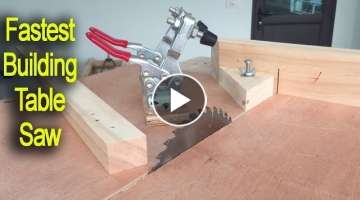 Amazing Smart Techniques Fastest Building Sliding Table Saw - Woodworking With Tools