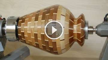 Woodturning Project - How to Turn a Segmented Vase - Designs in Wood
