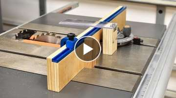 How To Make A Crosscut Jig For Your Table Saw