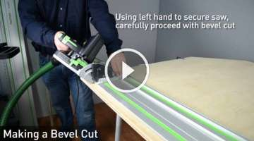Festool TS 55 REQ Track Saw - Getting Started