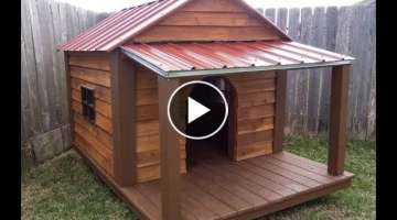 How I built this BIG dog house.