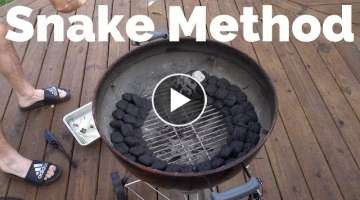 Snake Method in a Weber Grill