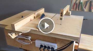 Homemade 4 in 1 Workshop (table saw, router table, disc sander jigsaw table)