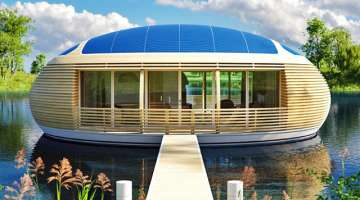 Floating Solar-Powered Waternest Eco-Home