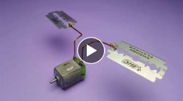 Free energy experiment using blades , at home 2019