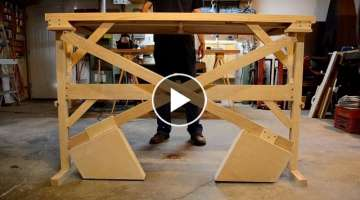 Wooden Counterweight Desk (or Table)