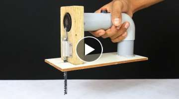 How to make Powerful Jigsaw Machine from DC Motor