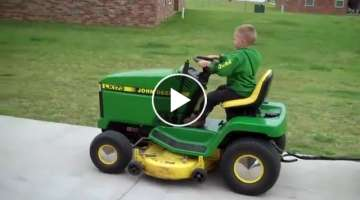 A little Dude who loves anything John Deere