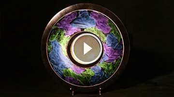Woodturning with Tim Yoder-Cosmic Clouds Platter