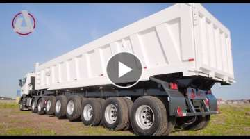 Tipper Semi Trailer 45m3 6 wide axles Ghana Ecowas Africa