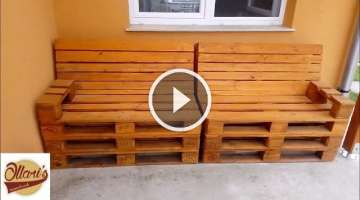 How to Build a Pallet Sofa Step by Step