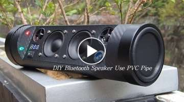 How To DIY Bluetooth Speaker Use PVC Pipe