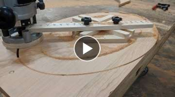 How To Build an Oval Cutting Jig (Elliptical Router Jig) Woodworking