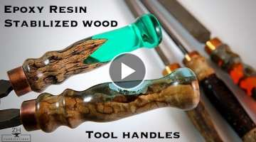 Epoxy resin & stabilized wood tool handles