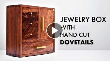 Walnut Jewelry Box with Hand Cut Dovetails ???? How To - Woodworking