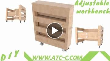 How to make a simple folding workbench and Transform-IT // Modern DIY