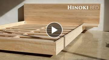 How to make a floating hinoki bed (Queen)