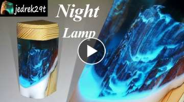 Night Lamp with Resin and Wood ????
