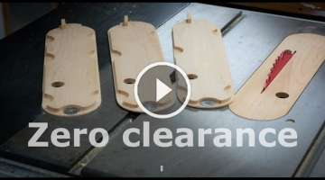 Zero clearance insert plate - Ridgid table saw