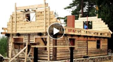 10 Amazing How to Build Wooden House Home Design Your Own, The Birth Of A Long Cabin Extended