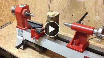 Woodturning - £3 log into a £2 Goblet !!