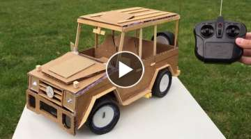 How to Make Remote Controlled Car - Mercedes-Benz G class - Awesome Toy DIY