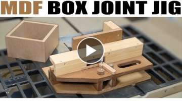 How To Make The Advanced Box Joint Jig (from MDF)