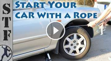 Start Your Car With a Rope (Dead Battery Life Hack)