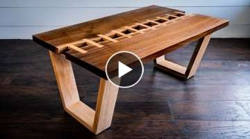 Live Edge River 'Zipper' Table | Woodworking How-To