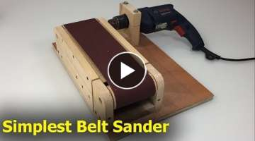Amazing Building Simplest Belt Sander Machine - Ingenious And Smart Techniques Woodworking DIY