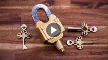 A Padlock with 3 Keys but no Keyholes - Illusion and Confusion