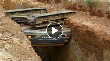 WOW! Dangerous Heavy Equipment Excavator Opeartor IDIOTS - Excavator Fail Skills
