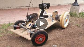 Drill Motor RC Electric Car