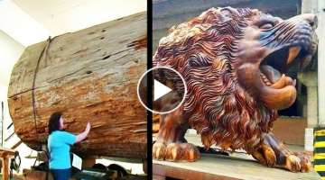 What Expert Woodworking Carpenters Carve Out Of Huge Logs is Amazing