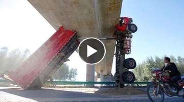 10 Extreme Dangerous Idiots Biggest Truck Fails Heavy Equipment Driving Machines Fails Working