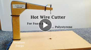 How to make a Hot Wire Cutter for foam or polystyrene- styro slicer - cosplay, lost foam casting ...