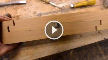 How to cut a Scarf Joint, Time Lapse