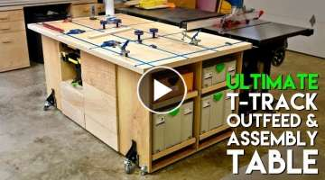 ULTIMATE T-Track Assembly & Outfeed Table / Workbench with Systainer Storage | How To Build
